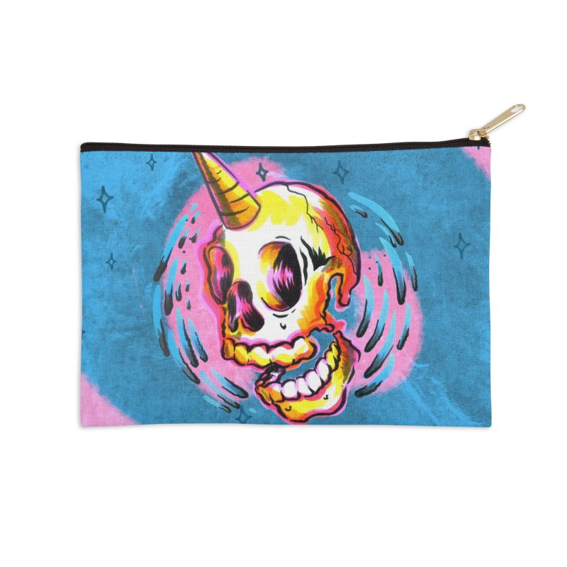 Unicorn Skull in Zip Pouch by TDUB951