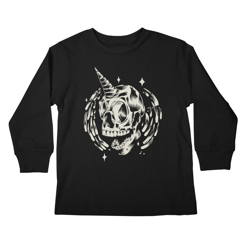 Uniskull  in Kids Longsleeve T-Shirt Black by TDUB951