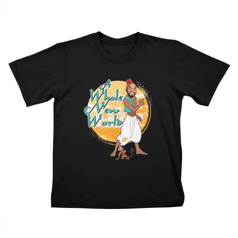 A Whole New World Kids T-Shirt by TDUB951