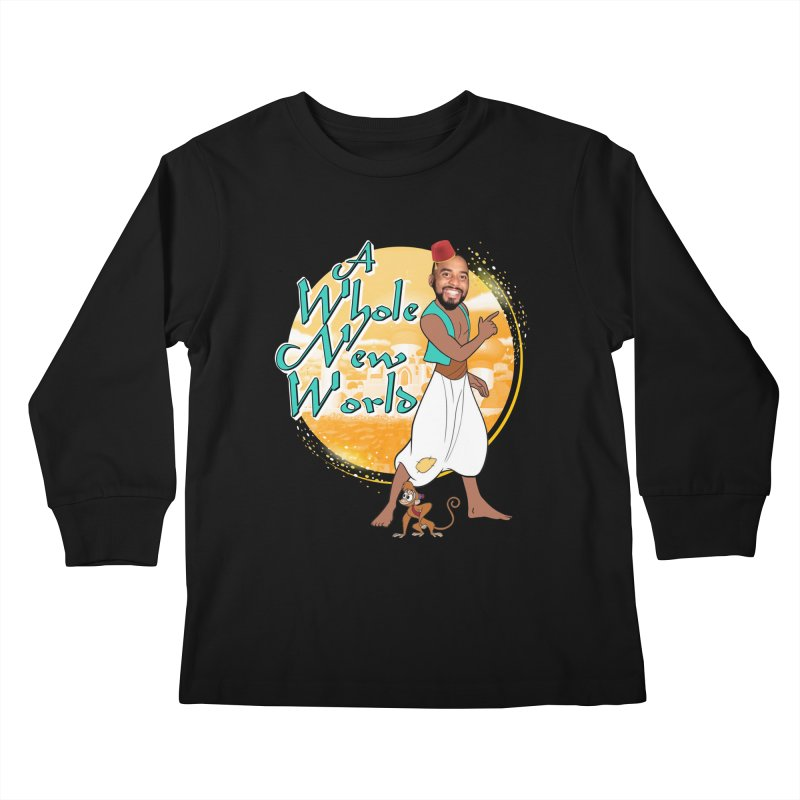 A Whole New World Kids Longsleeve T-Shirt by TDUB951