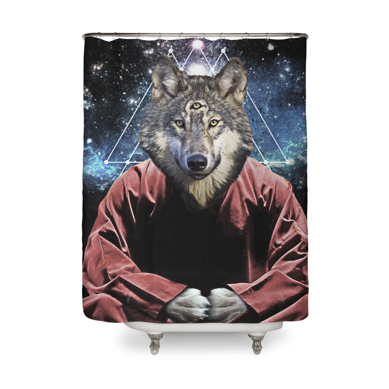 Aware Wolf Home Shower Curtain by TDUB951