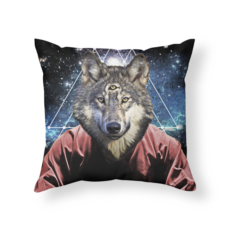 Aware Wolf in Throw Pillow by TDUB951