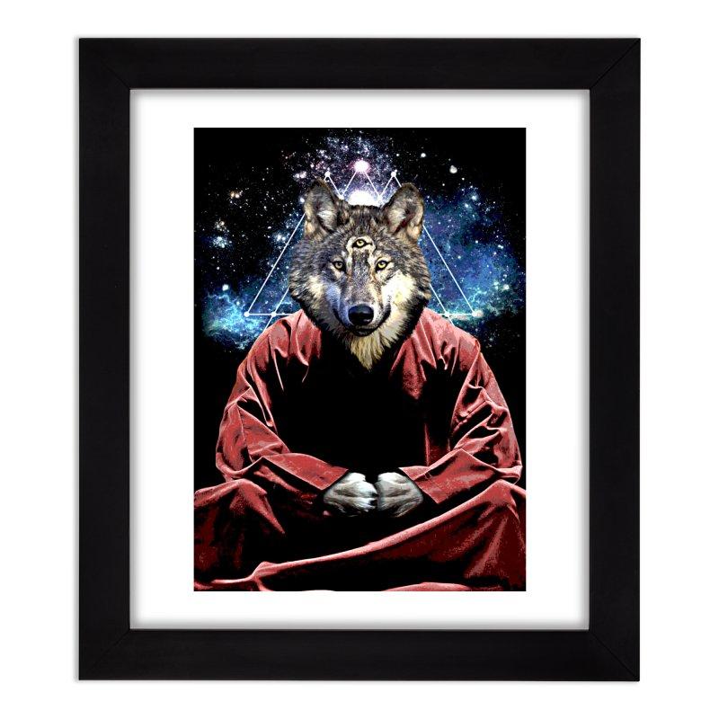 Aware Wolf Home Framed Fine Art Print by TDUB951
