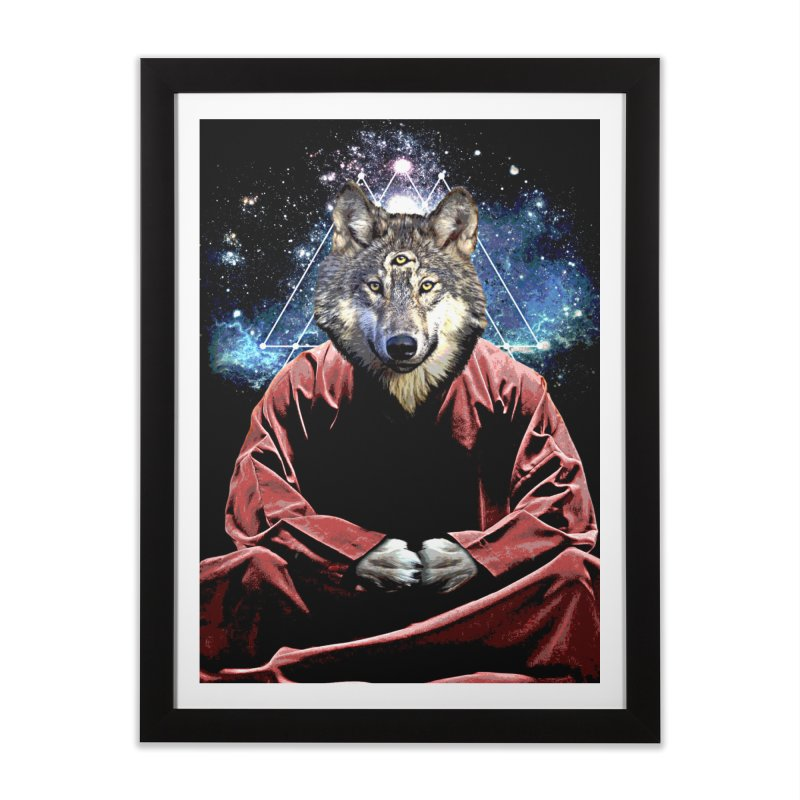 Aware Wolf Home Framed Fine Art Print by TDUB951