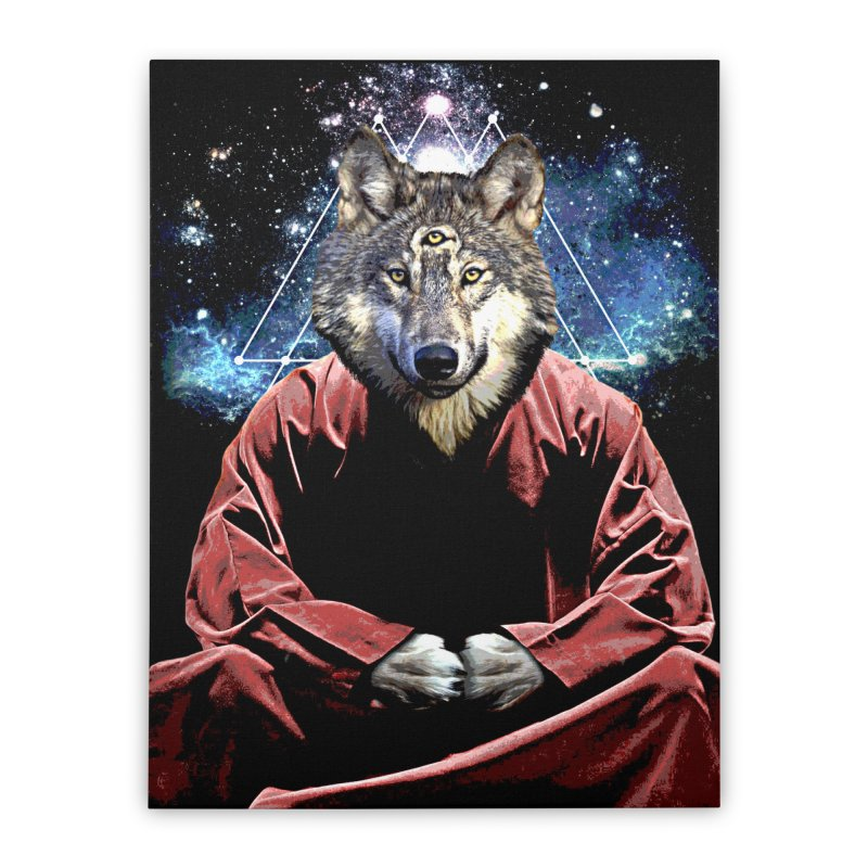 Aware Wolf Home Stretched Canvas by TDUB951