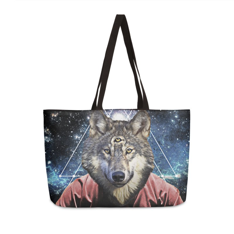 Aware Wolf in Weekender Bag by TDUB951