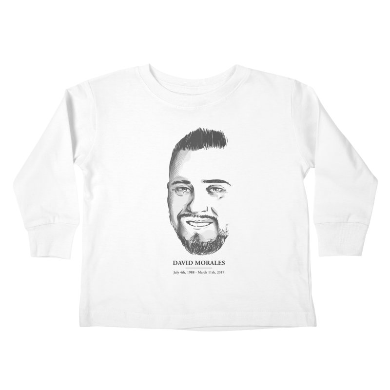 David Morales - Sketch in Kids Toddler Longsleeve T-Shirt White by TDUB951