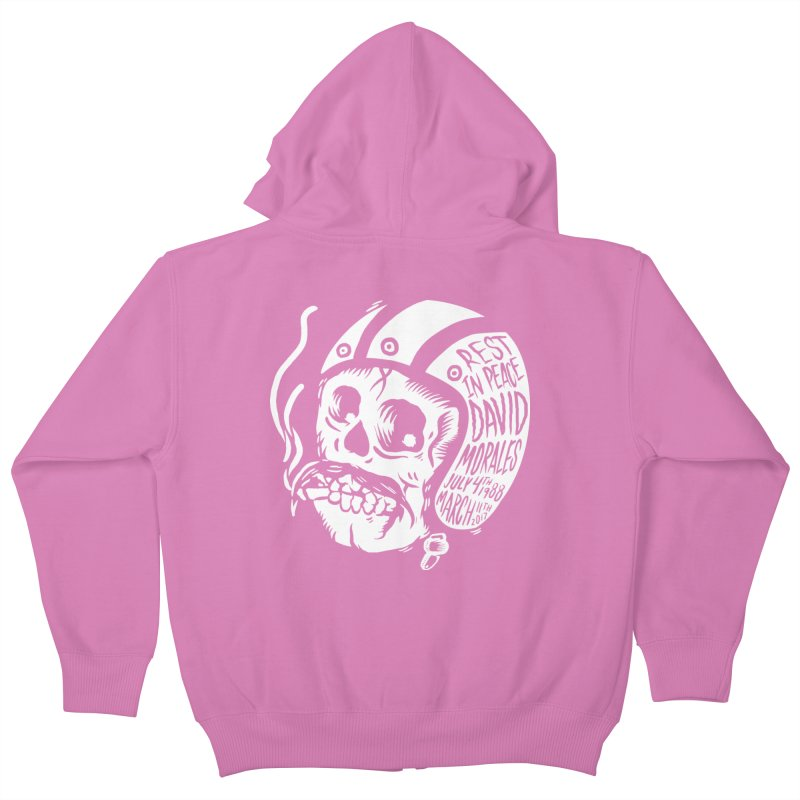 David Morales - Hand Tattoo White in Kids Zip-Up Hoody Cotton Candy by TDUB951