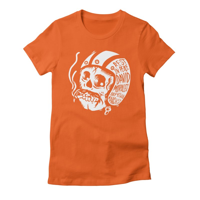 David Morales - Hand Tattoo White in Women's Fitted T-Shirt Orange Poppy by TDUB951