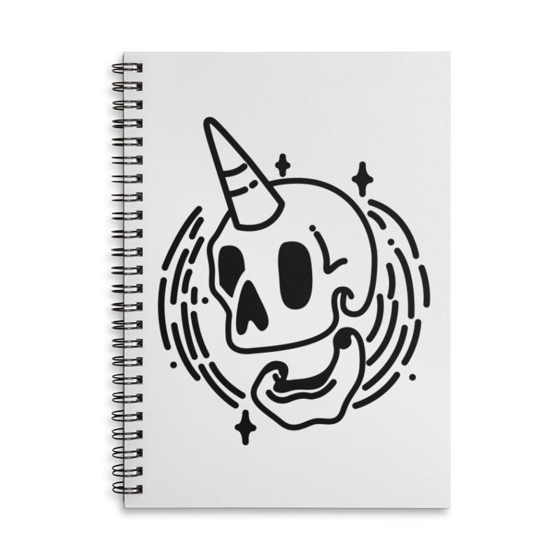 Uniskull Mono Accessories Lined Spiral Notebook by TDUB951