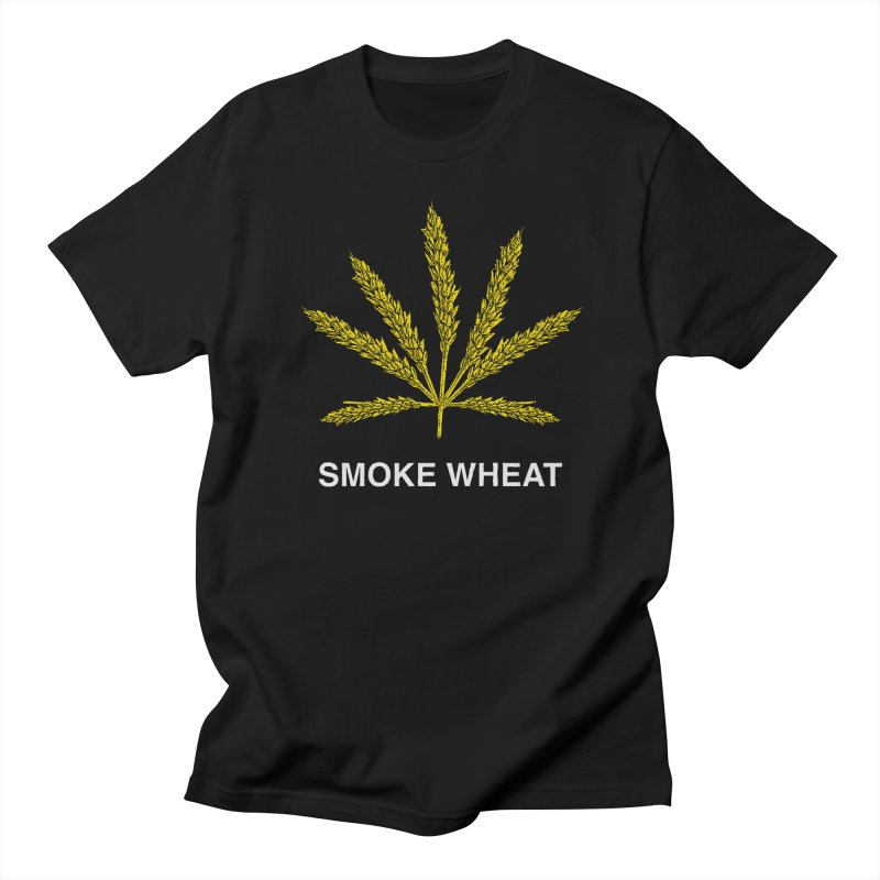 Smoke Wheat in Men's Regular T-Shirt Black by TDUB951