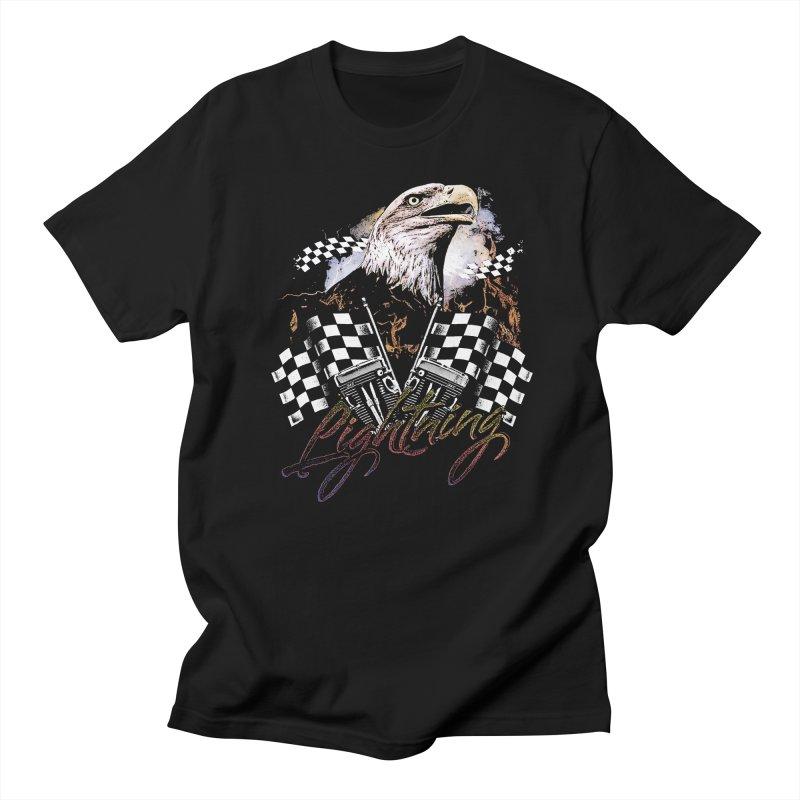 Lightning in Men's Regular T-Shirt Black by TDUB951