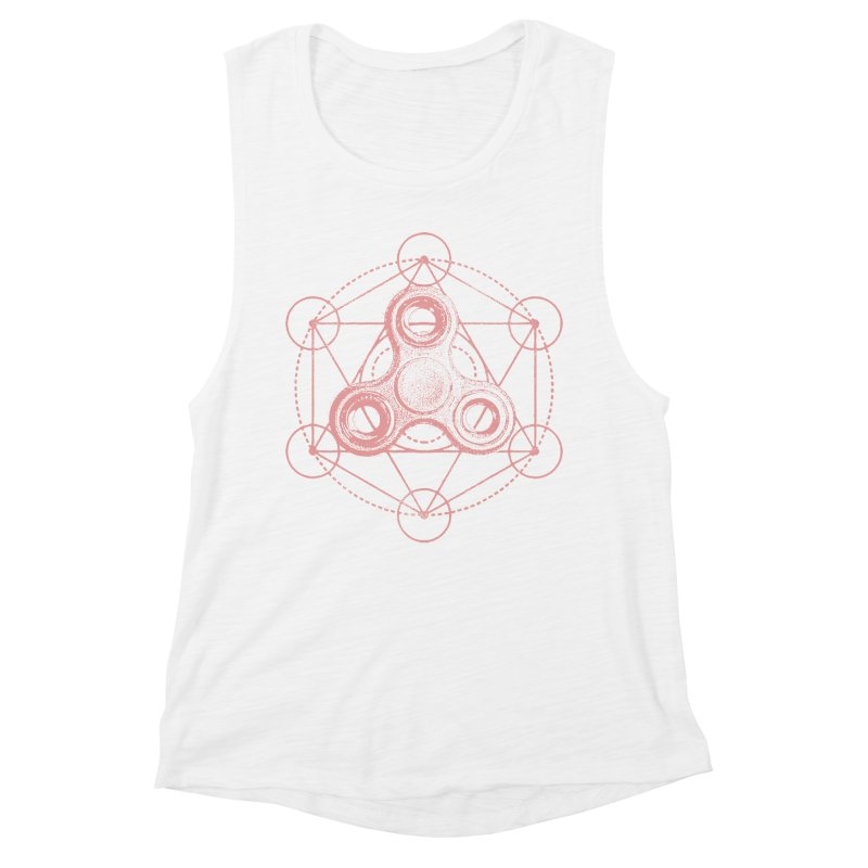 Sacred Fidgometry in Women's Muscle Tank White by TDUB951
