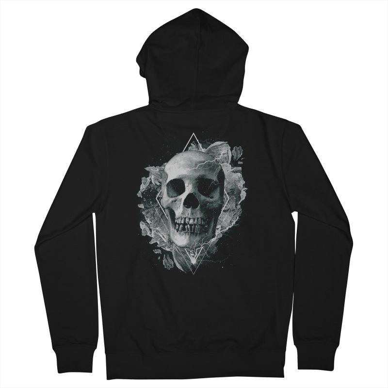 Space Skull Men's French Terry Zip-Up Hoody by TDUB951