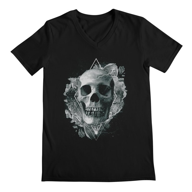 Space Skull Men's Regular V-Neck by TDUB951