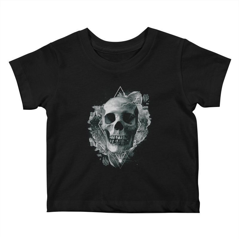 Space Skull Kids Baby T-Shirt by TDUB951