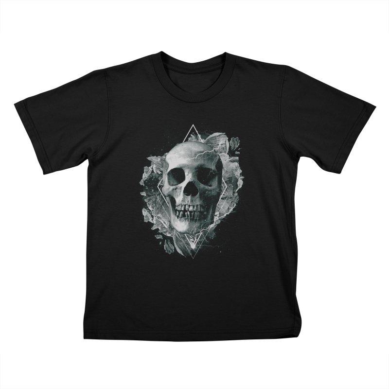 Space Skull Kids T-Shirt by TDUB951