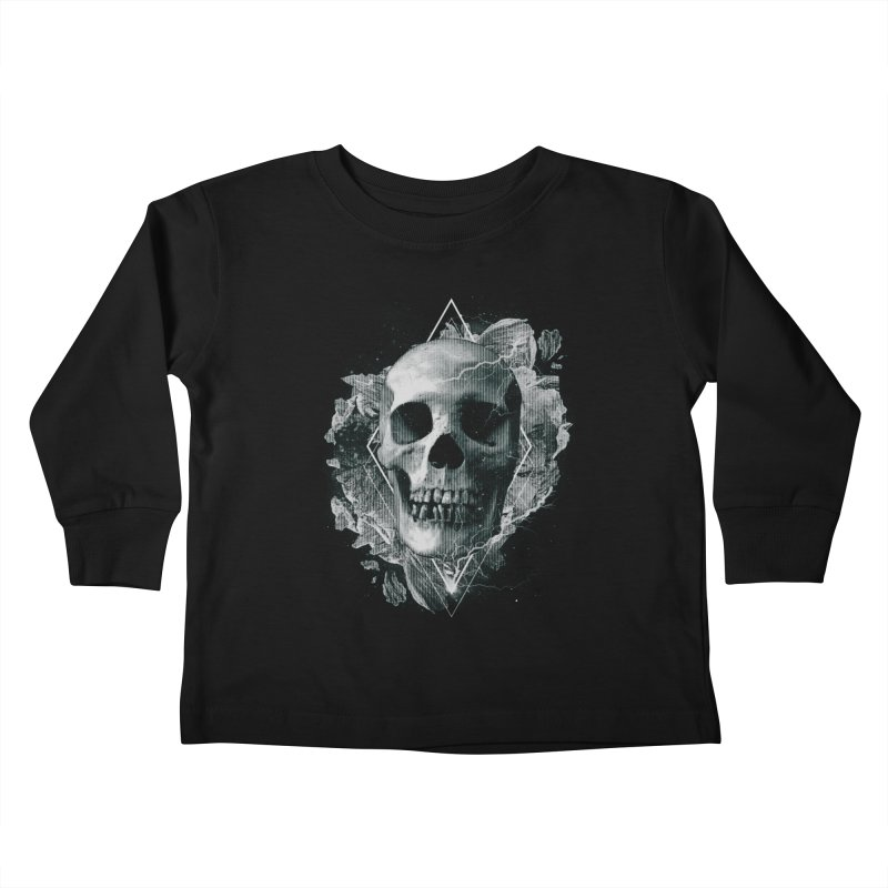 Space Skull Kids Toddler Longsleeve T-Shirt by TDUB951