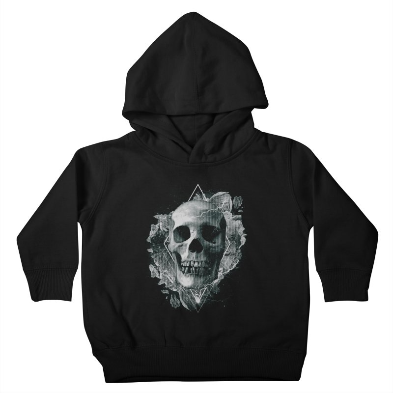 Space Skull Kids Toddler Pullover Hoody by TDUB951