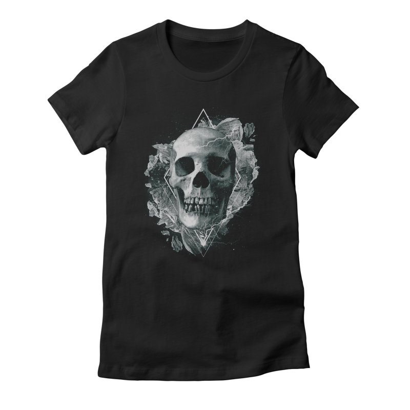 Space Skull Women's Fitted T-Shirt by TDUB951