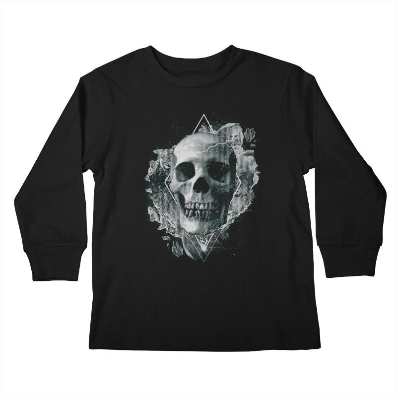 Space Skull Kids Longsleeve T-Shirt by TDUB951