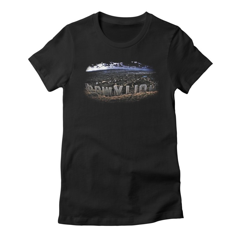 Hollywood Hike Women's Fitted T-Shirt by TDUB951