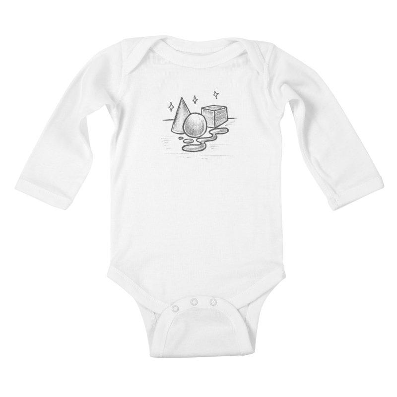 Crayon Shapes Kids Baby Longsleeve Bodysuit by TDUB951