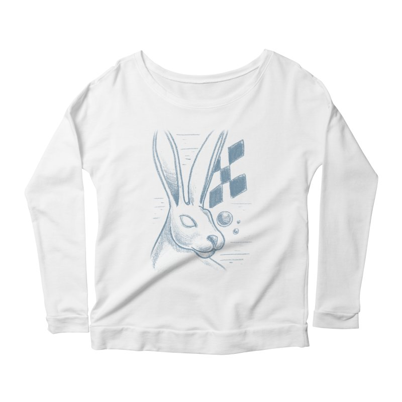 Rabbit Women's Scoop Neck Longsleeve T-Shirt by TDUB951