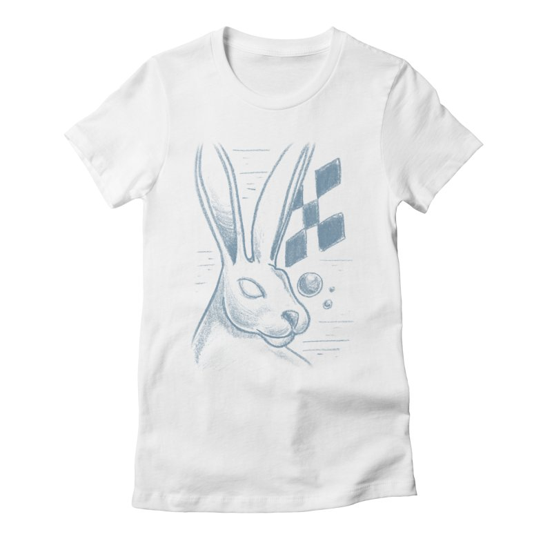 Rabbit Women's Fitted T-Shirt by TDUB951