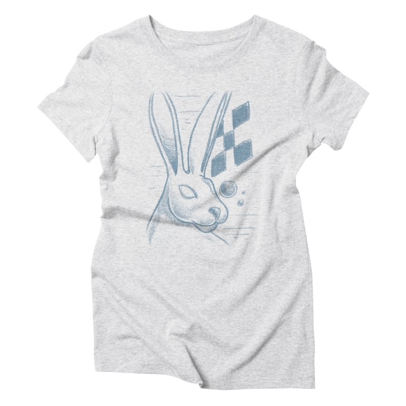 Rabbit Women's Triblend T-Shirt by TDUB951