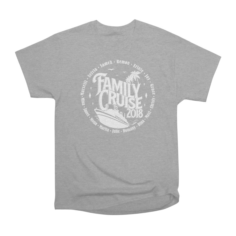 Family Cruise 2018 - White Print Men's Heavyweight T-Shirt by TDUB951