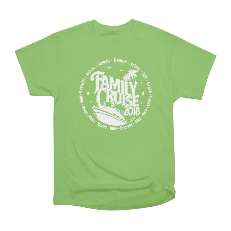Family Cruise 2018 - White Print Men's Heavyweight T-Shirt by TDUB951