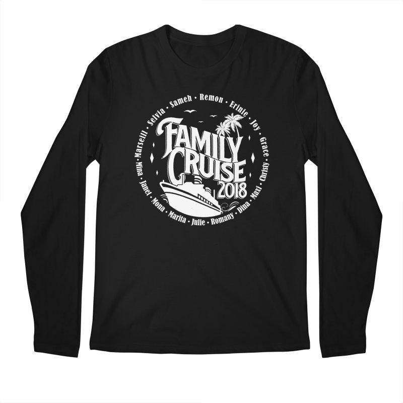 Family Cruise 2018 - White Print Men's Regular Longsleeve T-Shirt by TDUB951