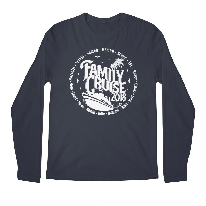 Family Cruise 2018 - White Print Men's Regular Longsleeve T-Shirt by TDUB951