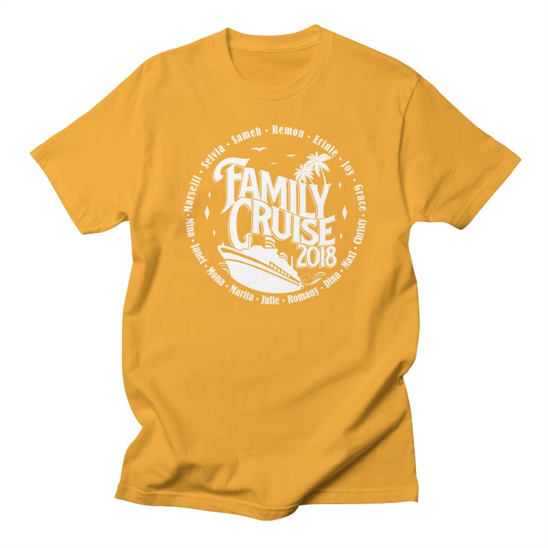 Family Cruise 2018 - White Print Men's Regular T-Shirt by TDUB951