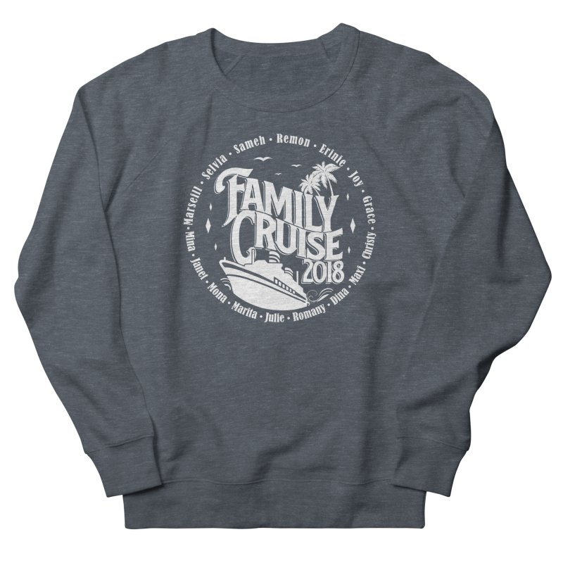 Family Cruise 2018 - White Print Men's French Terry Sweatshirt by TDUB951