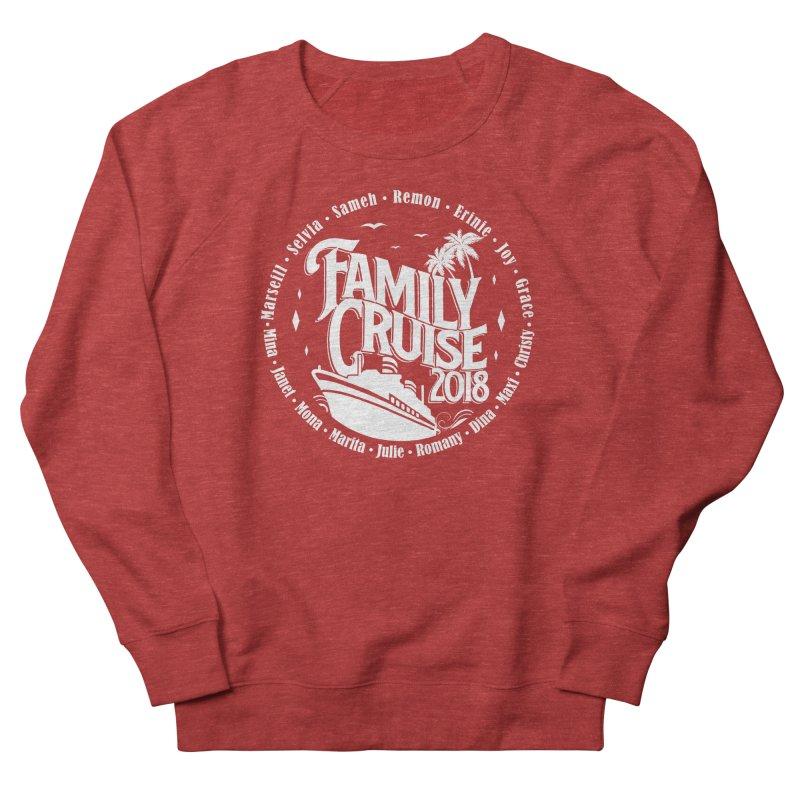 Family Cruise 2018 - White Print Men's French Terry Sweatshirt by TDUB951