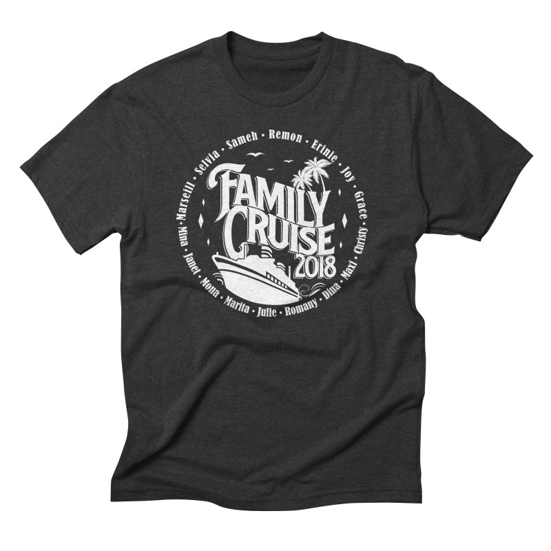 Family Cruise 2018 - White Print Men's Triblend T-Shirt by TDUB951