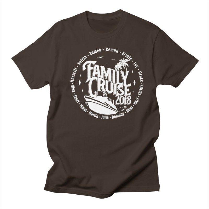 Family Cruise 2018 - White Print Men's Regular T-Shirt by TDUB951