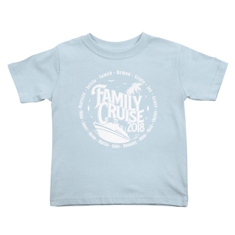 Family Cruise 2018 - White Print Kids Toddler T-Shirt by TDUB951