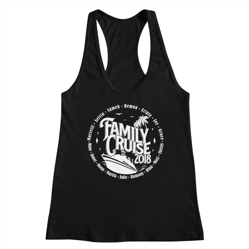 Family Cruise 2018 - White Print Women's Racerback Tank by TDUB951