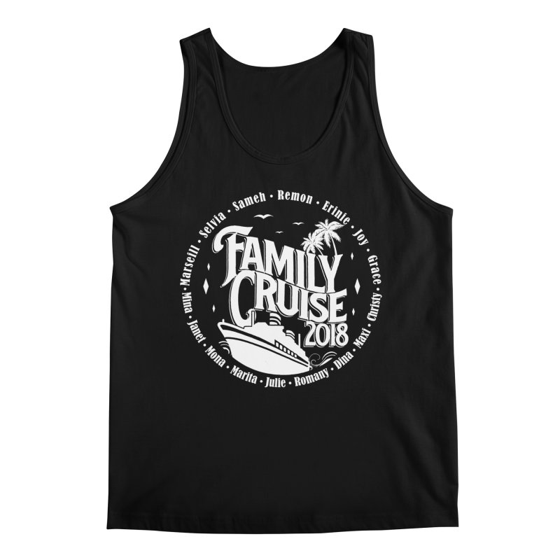 Family Cruise 2018 - White Print Men's Regular Tank by TDUB951
