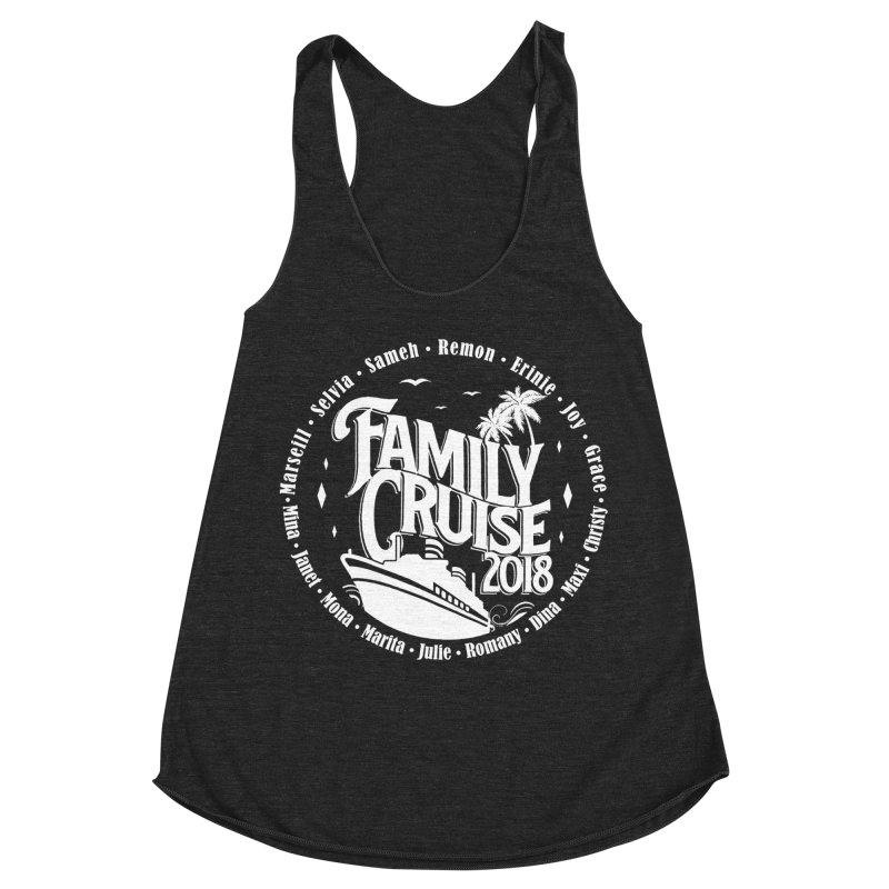 Family Cruise 2018 - White Print Women's Racerback Triblend Tank by TDUB951