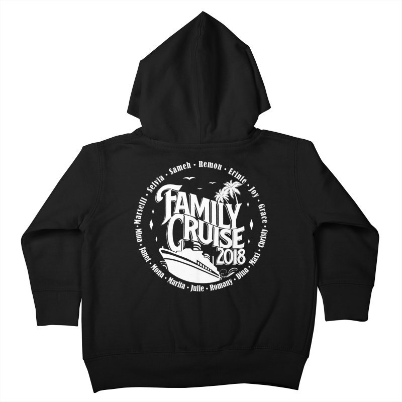 Family Cruise 2018 - White Print Kids Toddler Zip-Up Hoody by TDUB951