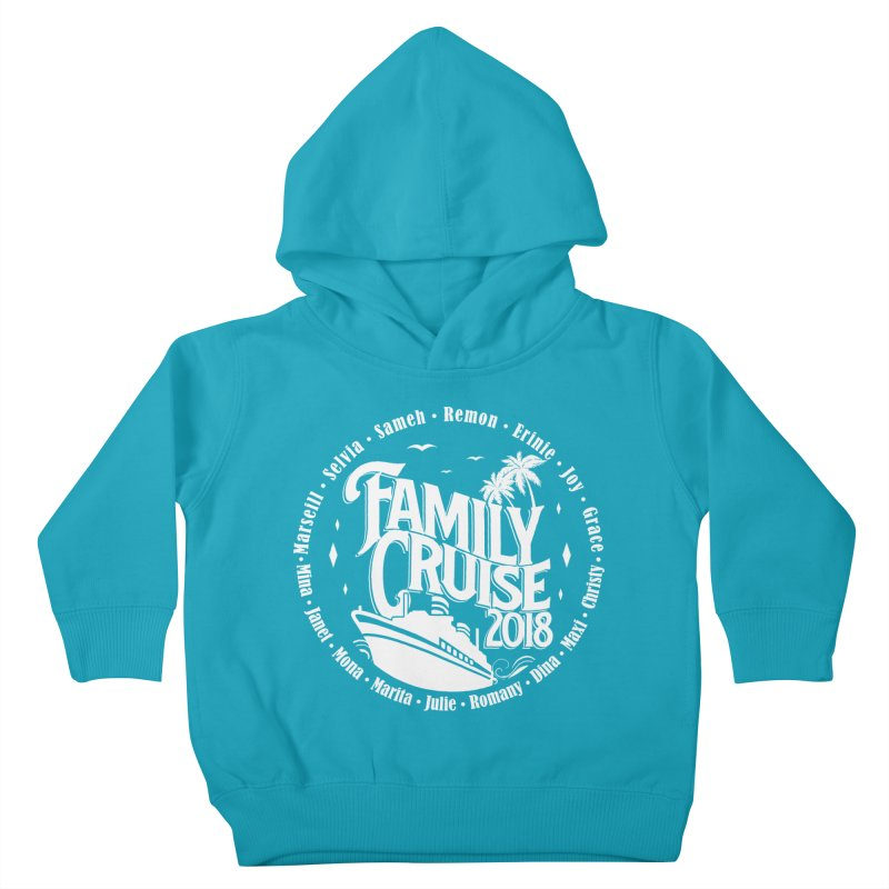 Family Cruise 2018 - White Print Kids Toddler Pullover Hoody by TDUB951