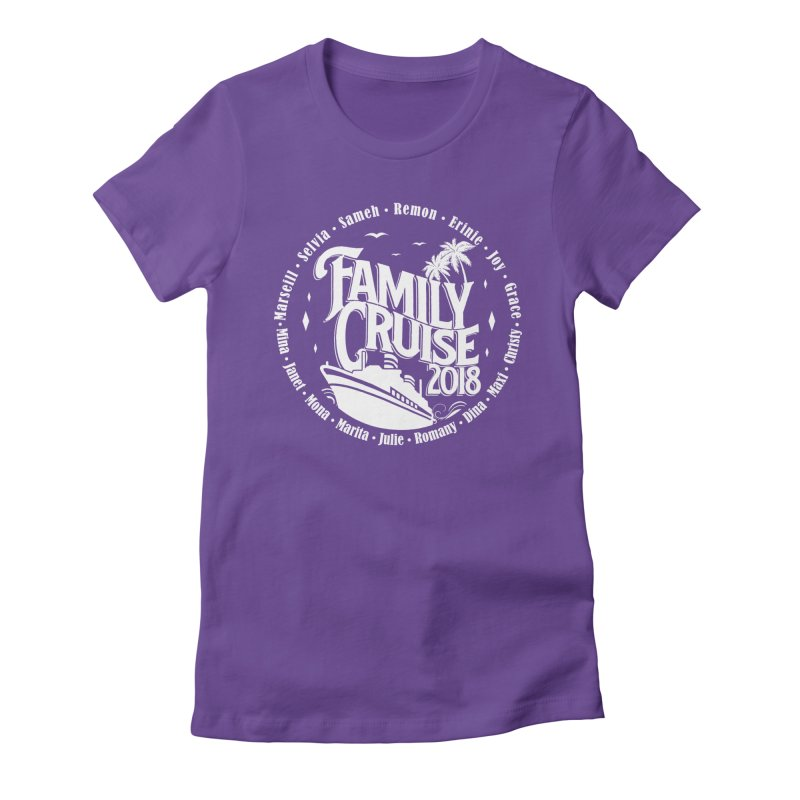 Family Cruise 2018 - White Print Women's Fitted T-Shirt by TDUB951