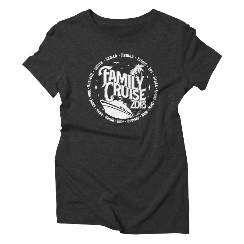 Family Cruise 2018 - White Print Women's Triblend T-Shirt by TDUB951