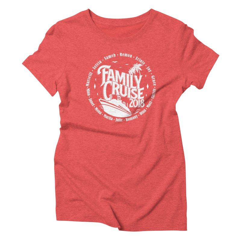 Family Cruise 2018 - White Print Women's Triblend T-Shirt by TDUB951