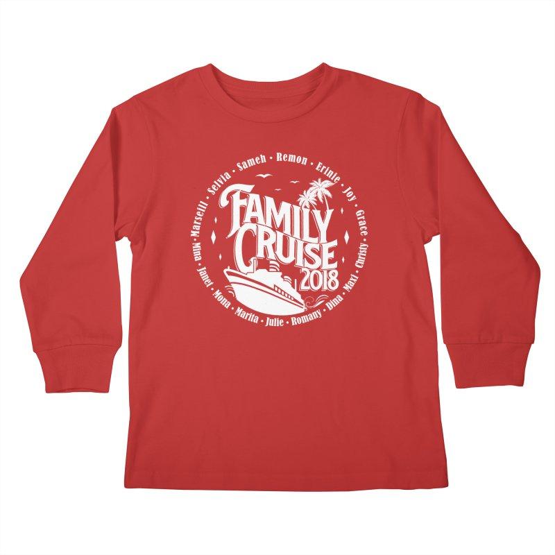 Family Cruise 2018 - White Print Kids Longsleeve T-Shirt by TDUB951
