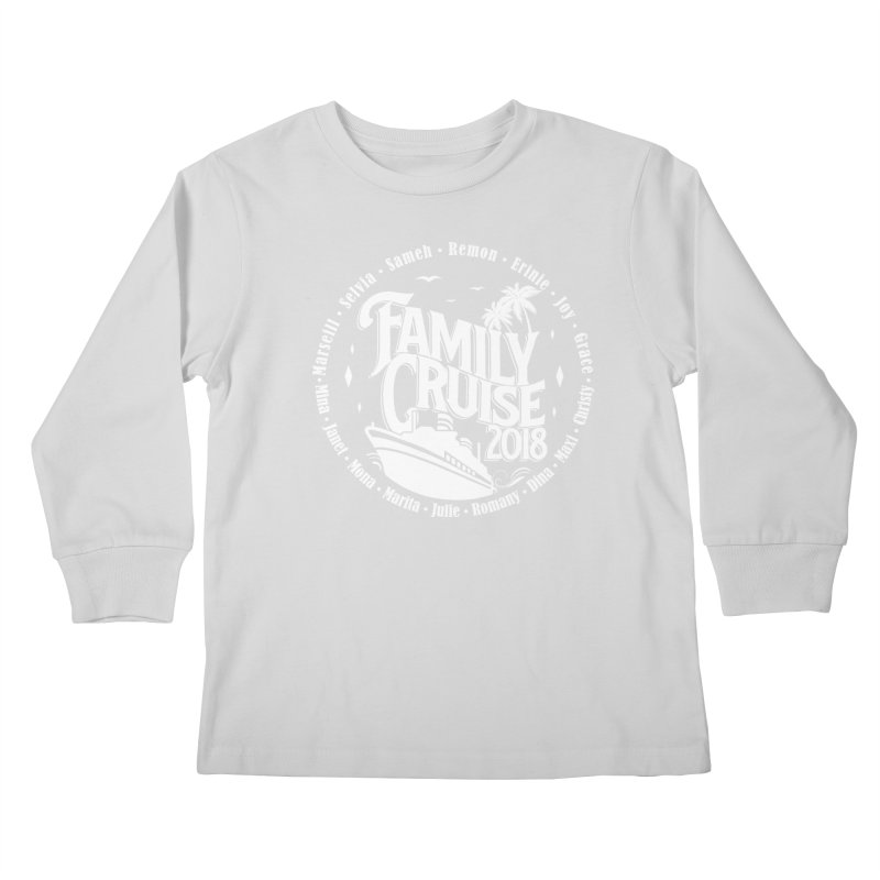 Family Cruise 2018 - White Print Kids Longsleeve T-Shirt by TDUB951